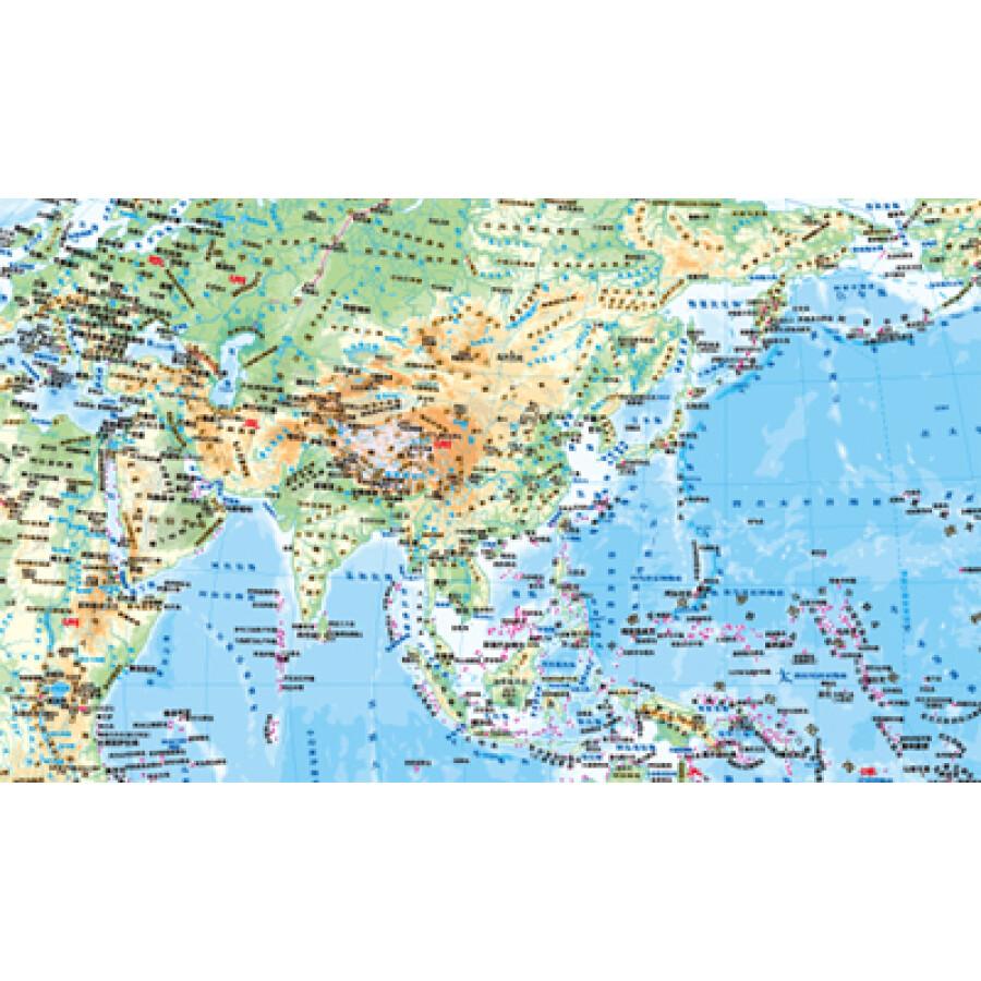 世界国家区���^�_国家版图系列地图·世界地形(竖版1全)(1:42000000)