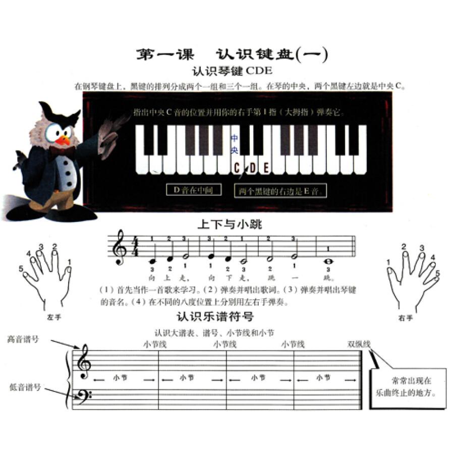 约翰·汤普森幼儿钢琴入门指导1(彩色版)图片