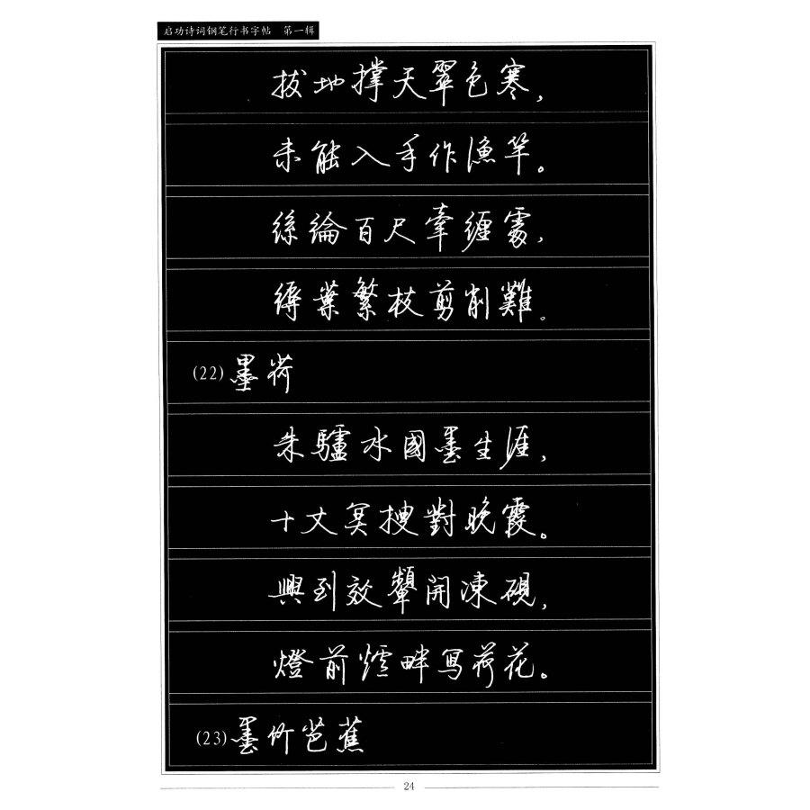 启功诗词钢笔行书字帖(第1辑)图片