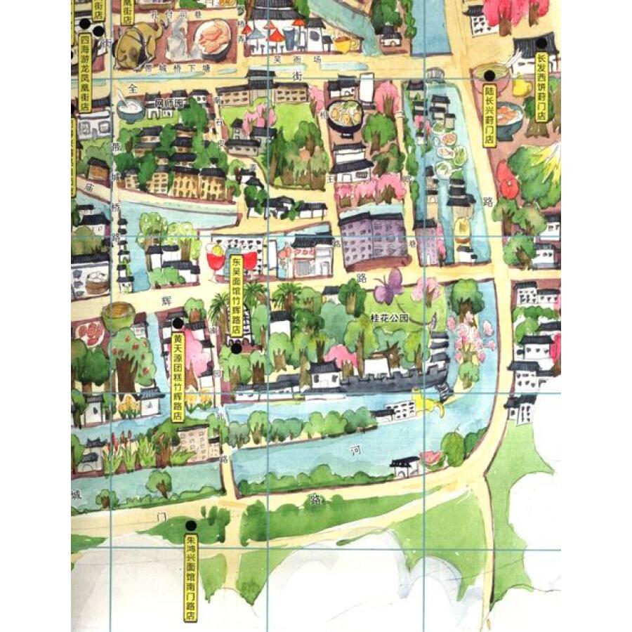 手绘旅行系列:苏州小吃地图