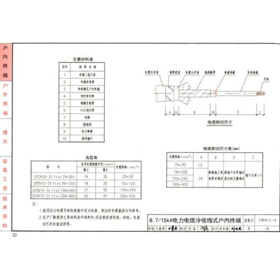 国家建筑标准设计图集(d101-1-7·替代2002年合订本):电缆敷设(2013年