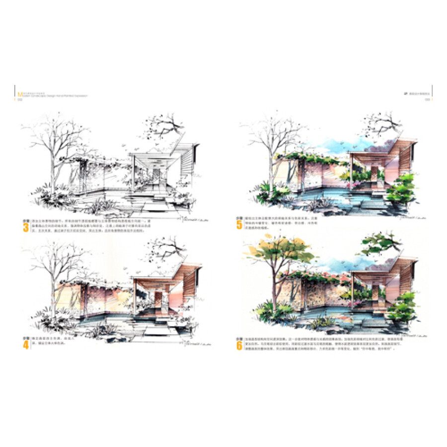 《现代景观设计手绘表现》【摘要
