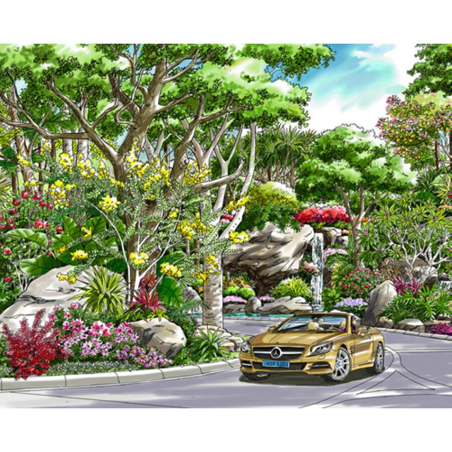 纵观天地:园林景观终极手绘表现