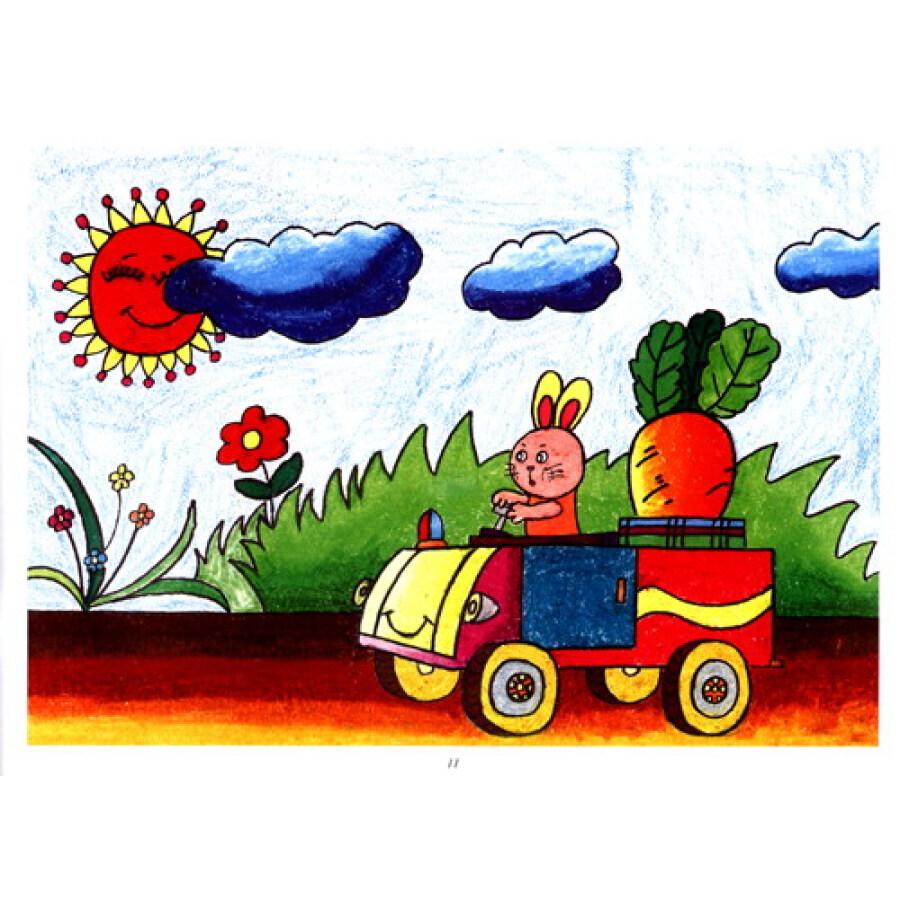 童书 美术/书法 新编儿童绘画入门教程:少儿油画棒(风景篇)图片