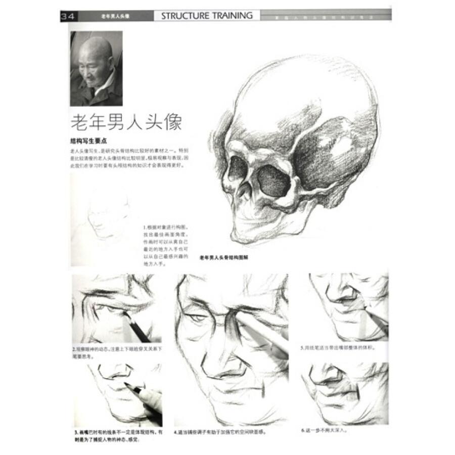 造型基础训练方法丛书·素描人物头像结构训练法:结构训练法(4)(黄金