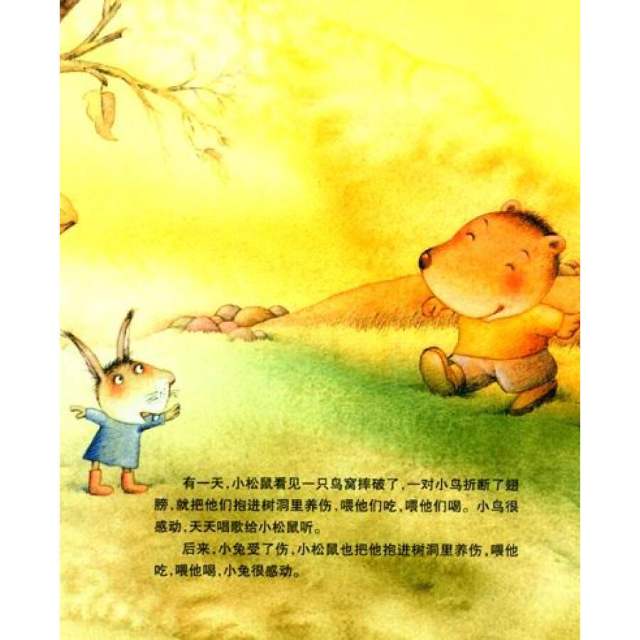 中国原创绘本精品系列:快乐的小松鼠