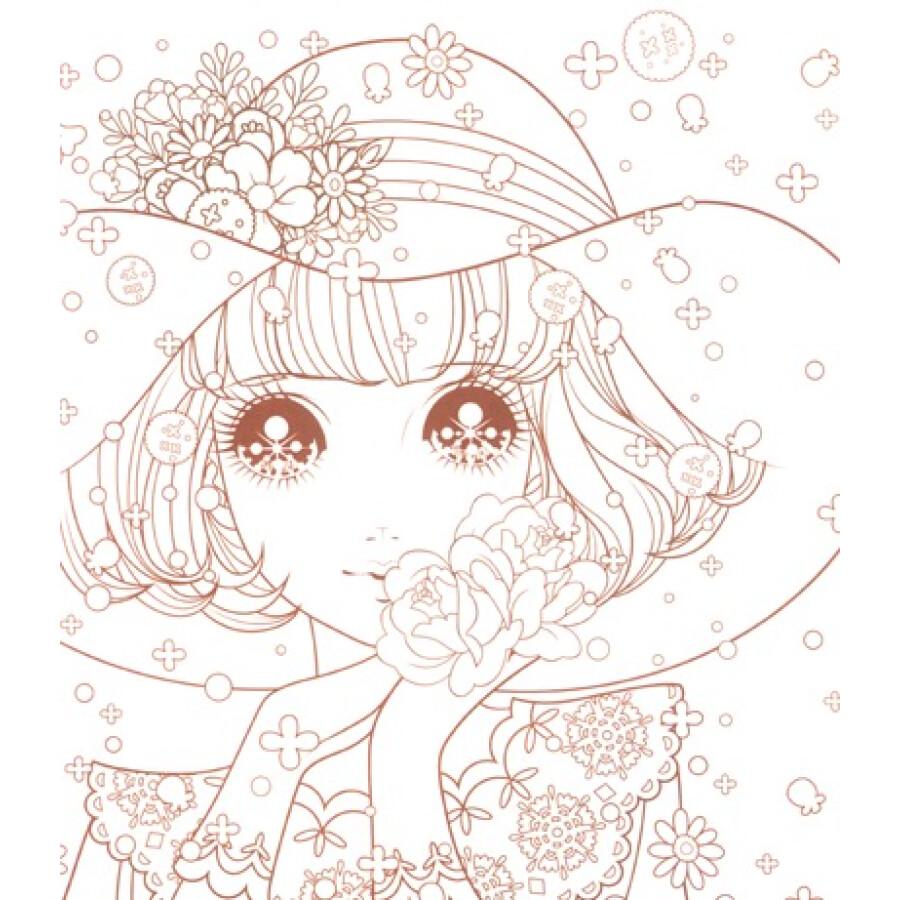 卡通公主简笔画