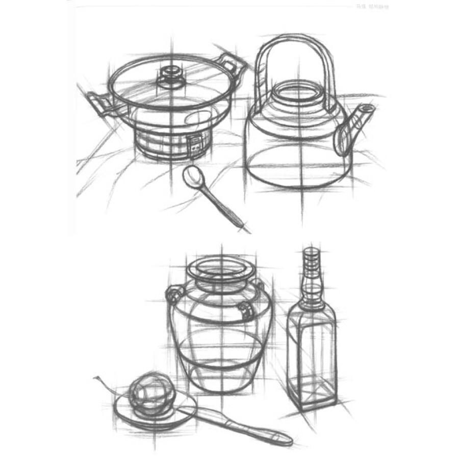 绘画 素描/速写 教学门道系列美术丛书:马强·结构静物