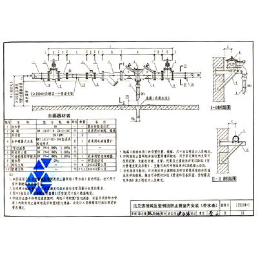 国家建筑标准设计图集(12s108-1替代 05s108):倒流防止器选用及安装