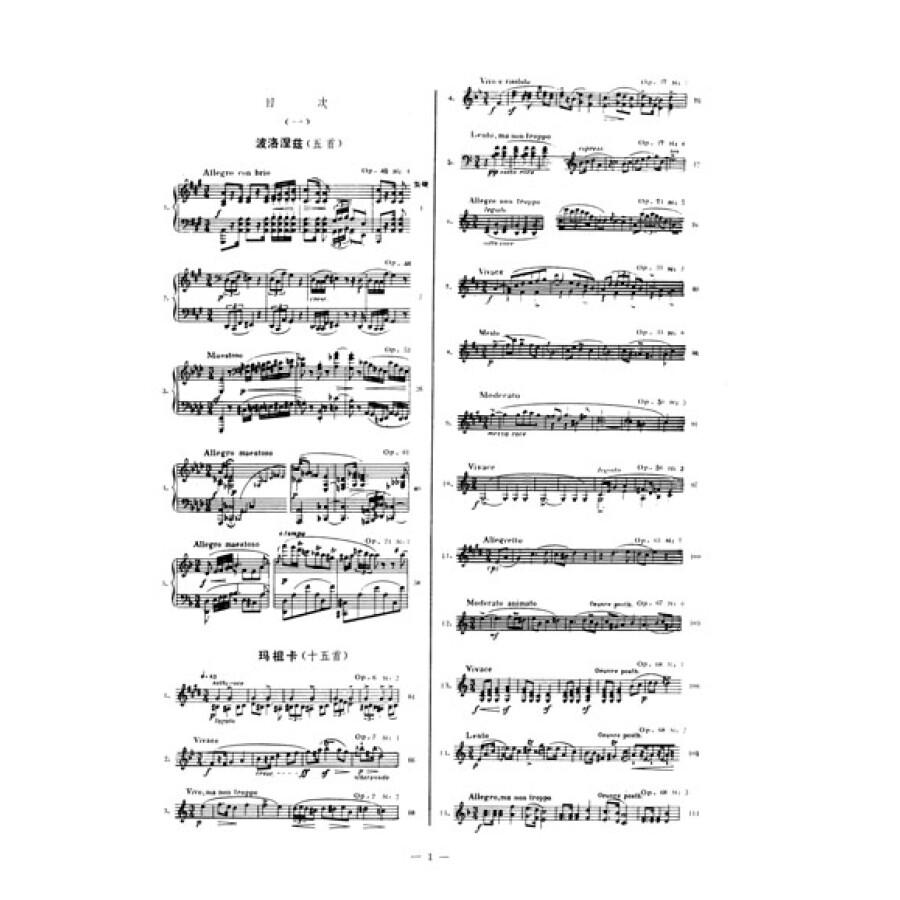 肖邦钢琴曲选(1)