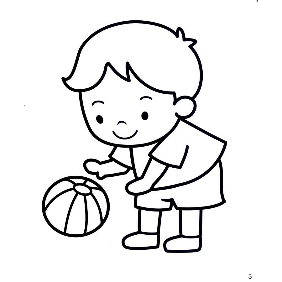 儿童做游戏简笔画