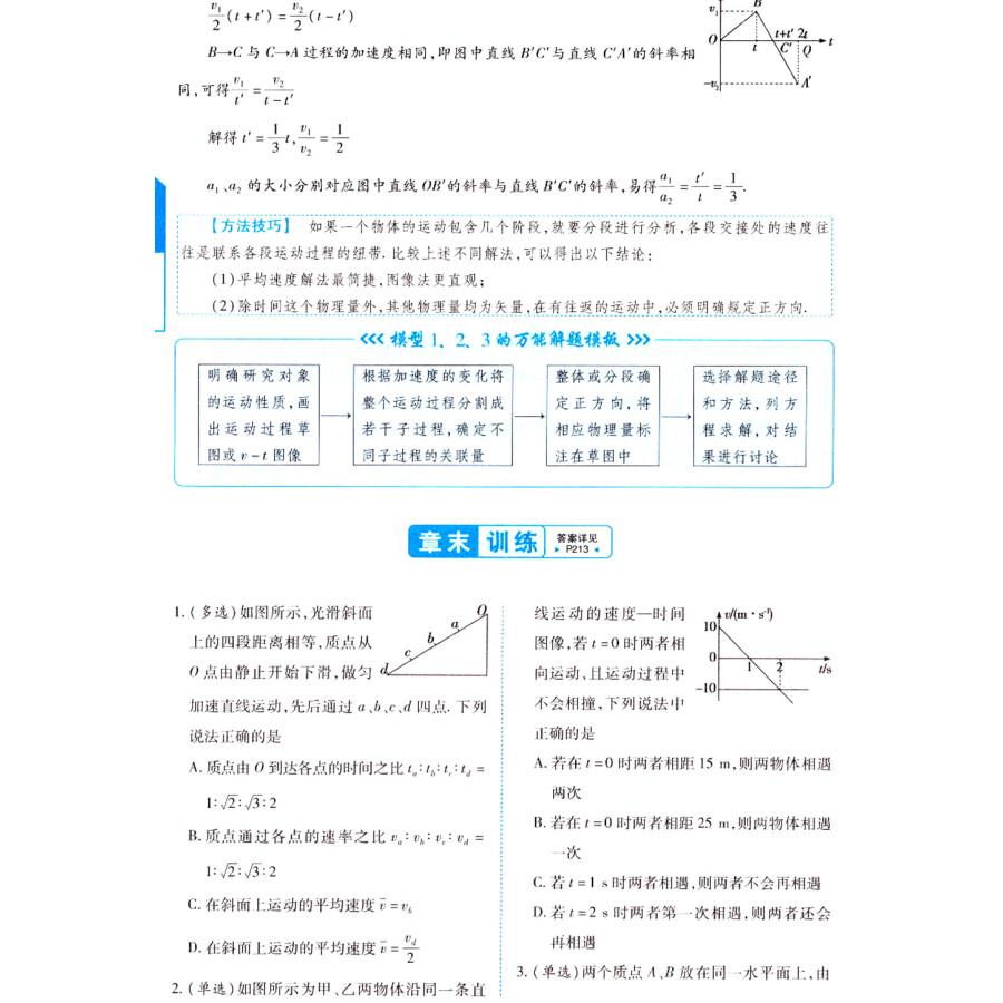 天星试题调研/2016 高中万能解题模板 物理