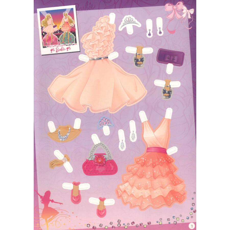 芭比公主故事炫彩涂色书:粉红舞鞋