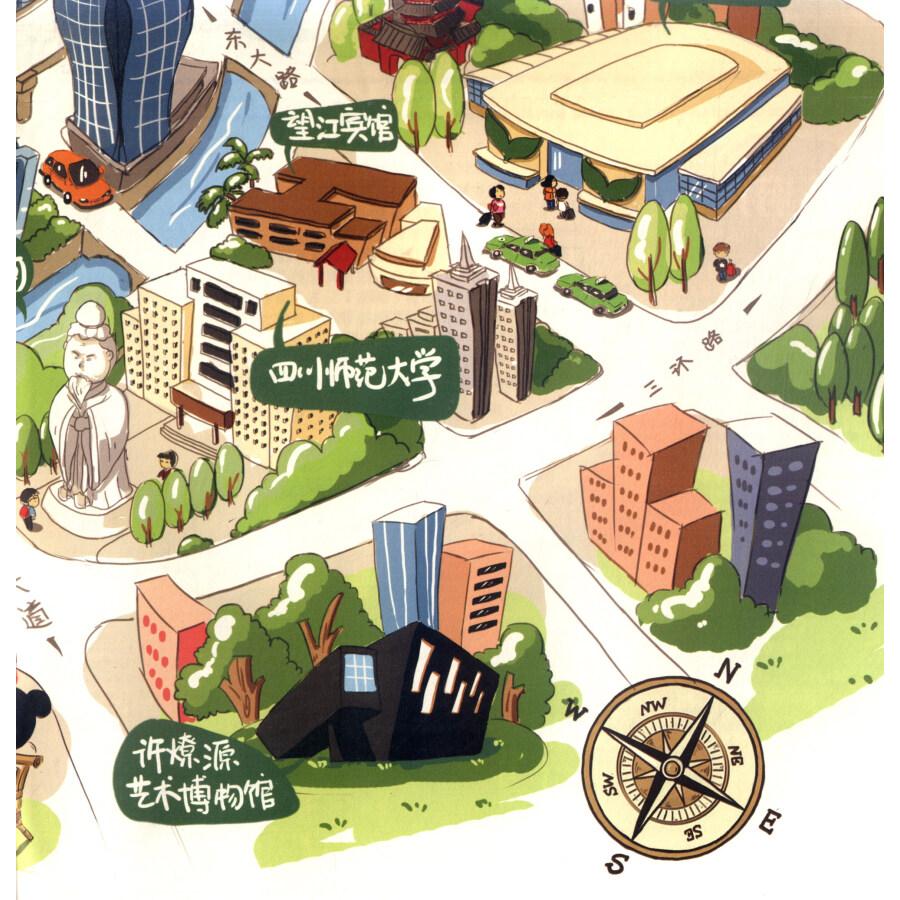 《成都手绘地图:逗游成都》【摘要