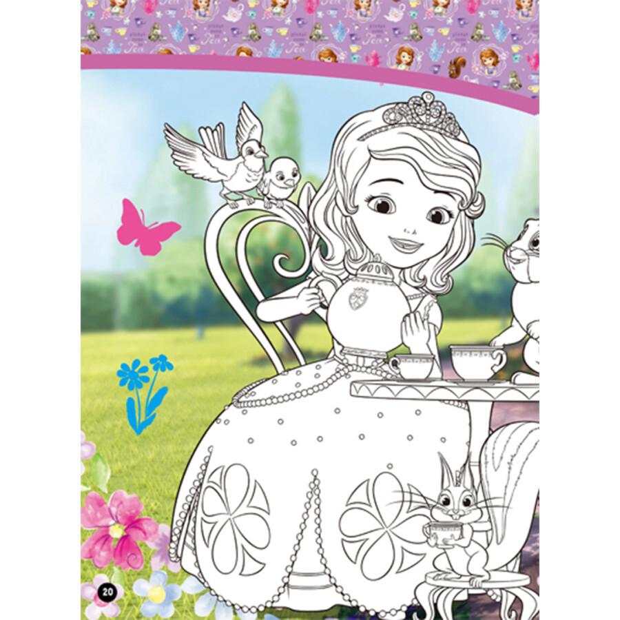 巧手小公主随时随地涂色书:小公主苏菲亚图片
