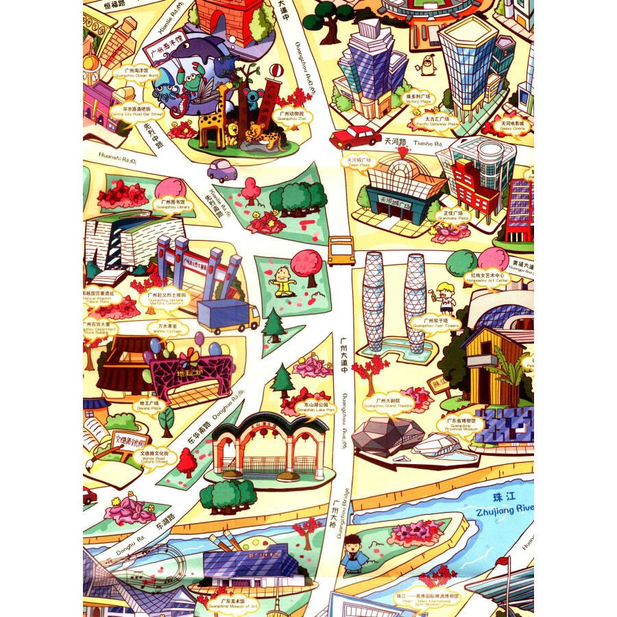 创意城市手绘地图:叹广州!