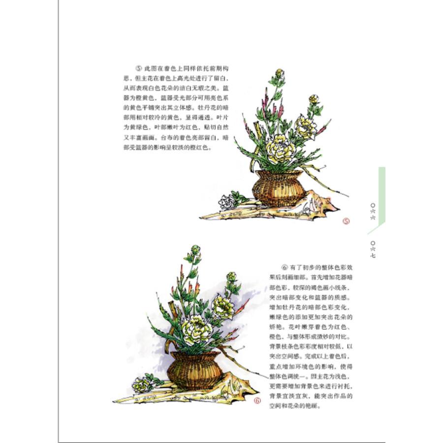 插花花艺手绘表现图技法