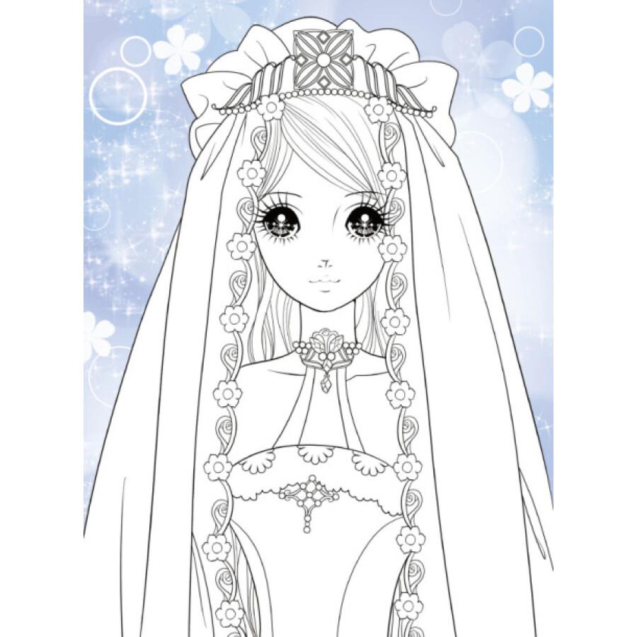 手绘卡通古装公主