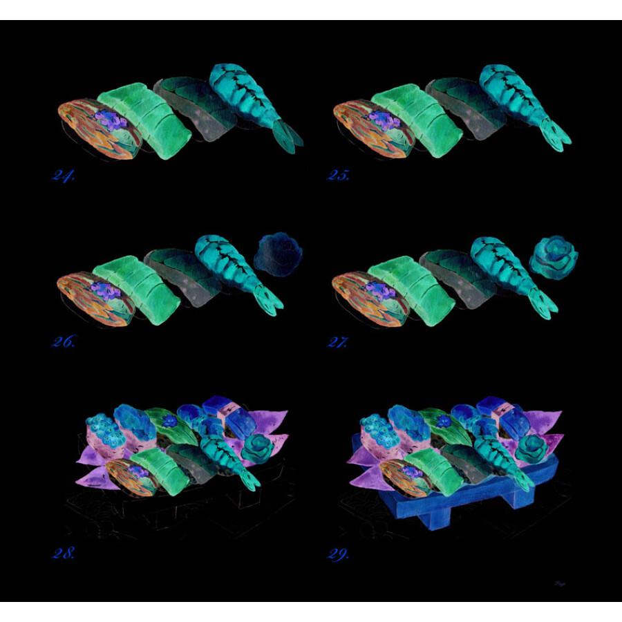 浪漫水彩课:环球美食手绘技法