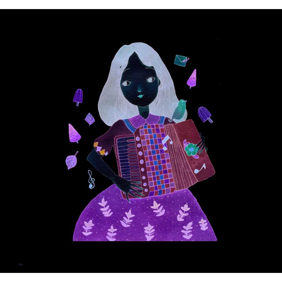 浪漫水彩课:森系少女手绘技法
