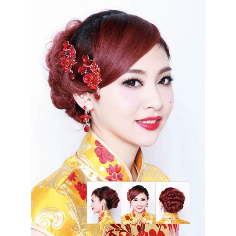 新娘经典中式发型100例图片