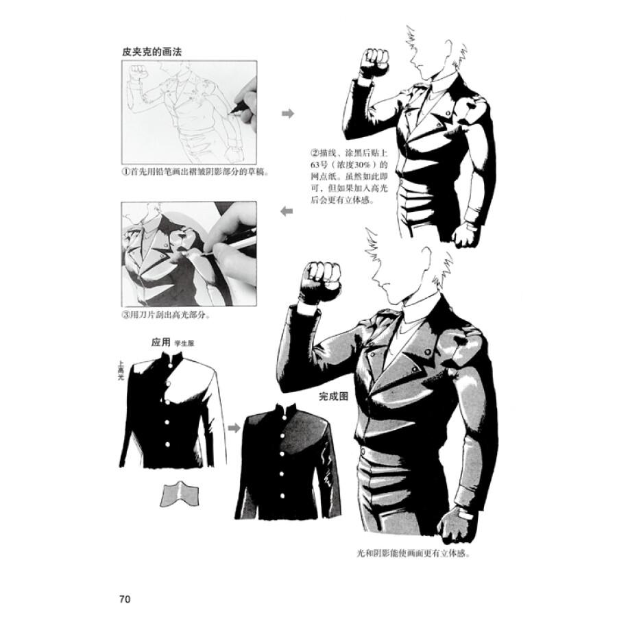 日本漫画手绘技法经典教程(10):人物角色的画法
