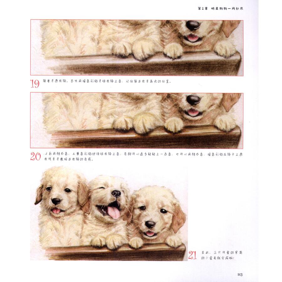 绘画 彩铅/铅笔画 色铅笔手绘教室:萌宠狗狗绘