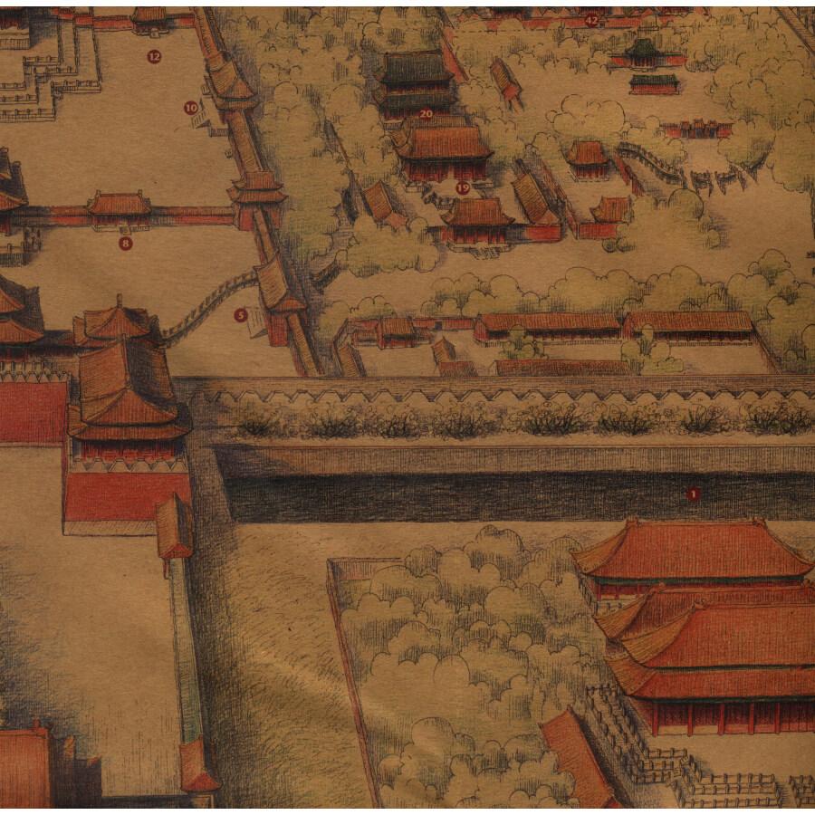 《故宫全景手绘地图》(泯然)【摘要