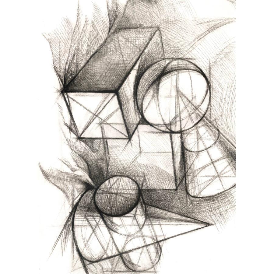 造型基础训练方法丛书·素描几何体结构训练法:结构训练法(1)(黄金