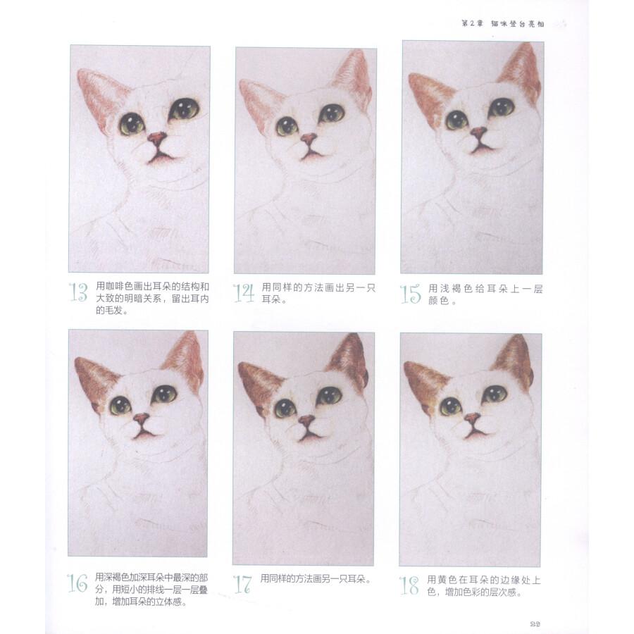绘画 彩铅/铅笔画 初学色铅笔速成:猫咪的温暖手绘王国(附颜色对照表