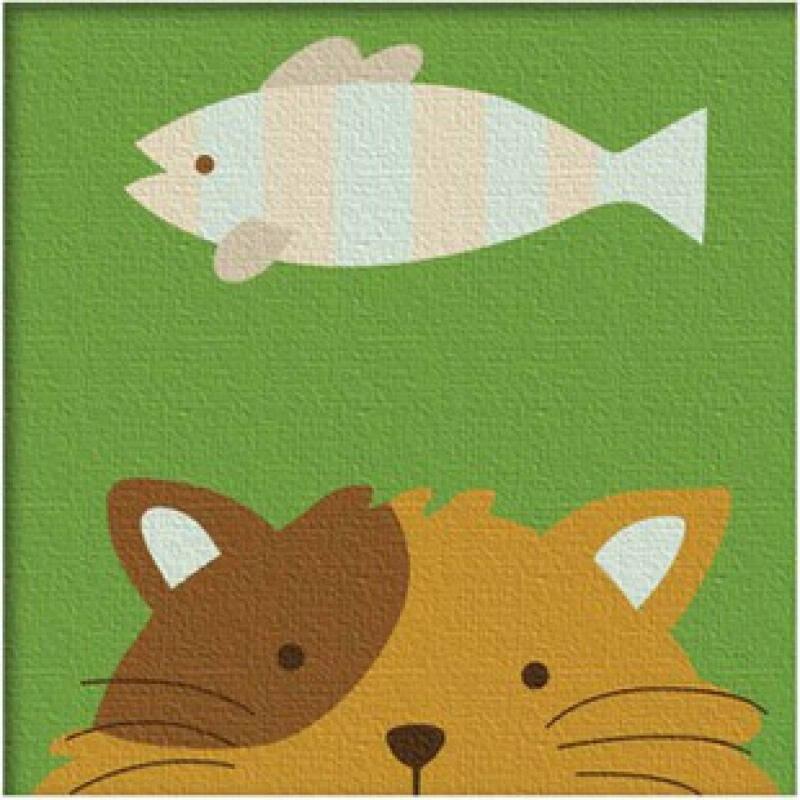 迷你数字油画 diy手绘油画 数字画 动物连连看-猫