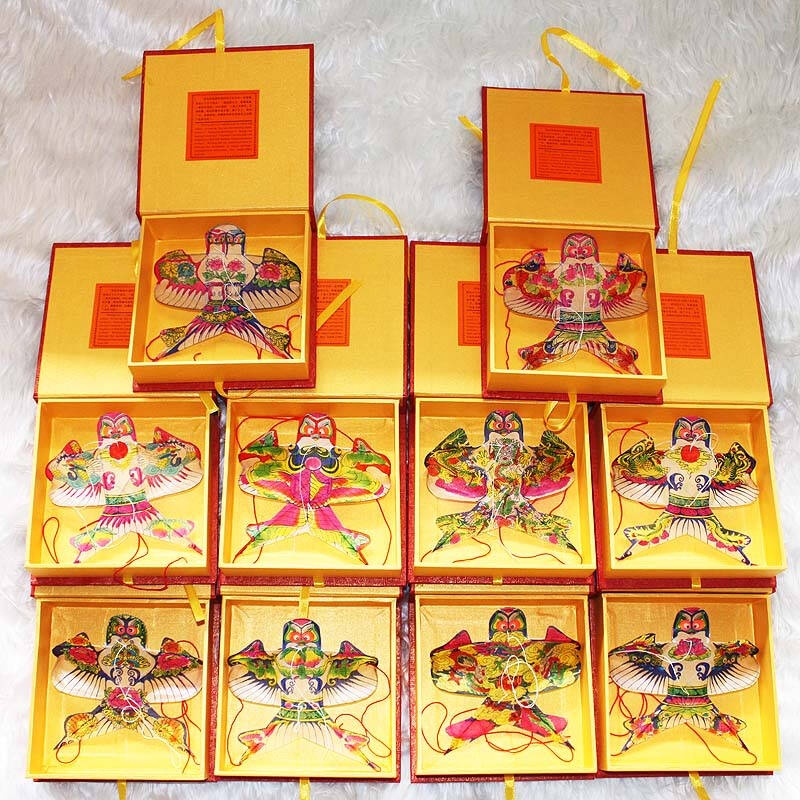 手绘潍坊沙燕礼盒风筝 10cm 创意外事礼品 一个(花色随机)
