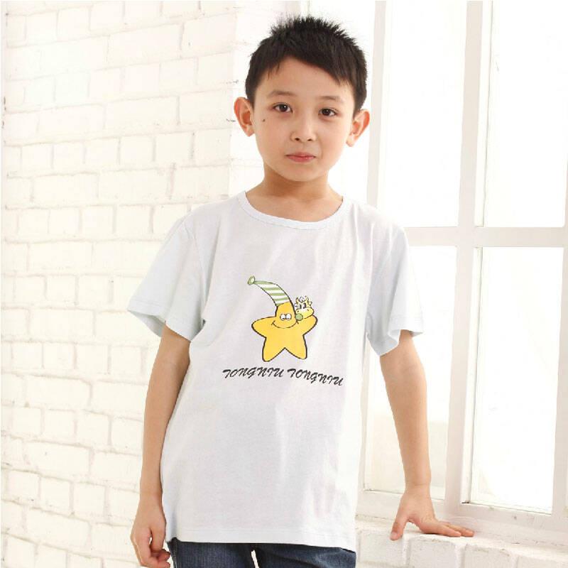 儿童纯棉夏季卡通半袖衫