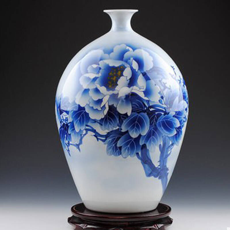 景秀缘 景德镇陶瓷 大师手绘花瓶 名人名作 摆件 高档