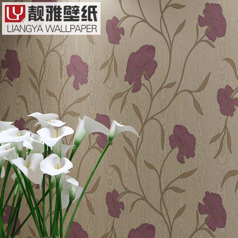 靓雅墙纸 电视背景无纺布壁纸 卧室客厅简约欧式大花墙纸个性 ny-09图片