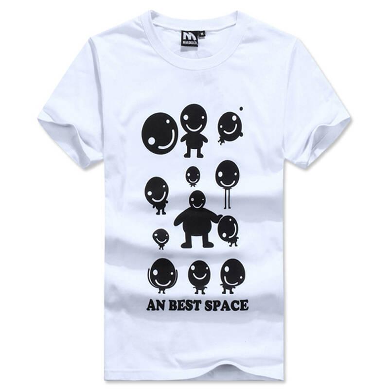 衣织优美 2014夏季新款 甜蜜可爱情侣韩版短袖t恤 w805—b152 白色 l