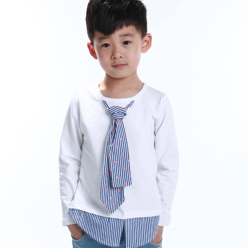 白色t恤手绘领带