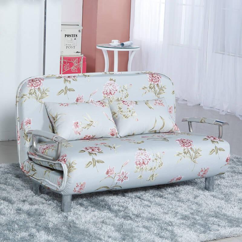御唐轩新款多功能布艺沙发床 折叠两用沙发 小户型客厅沙发 欧式暗花图片