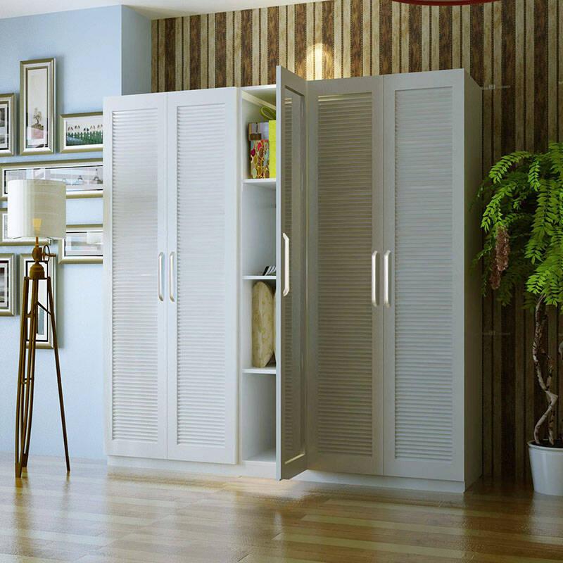 蜗爱 简约现代 卧室家具 5门平开门衣柜带穿衣镜/衣橱