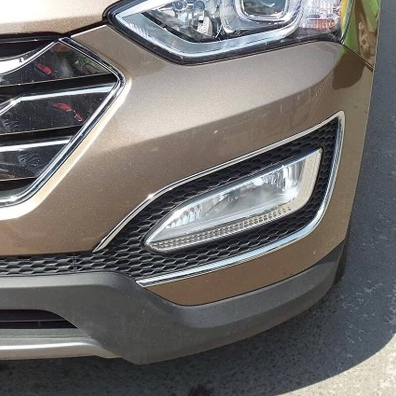 宾马 现代全新胜达灯罩改装 ix45改装专用 前雾灯罩