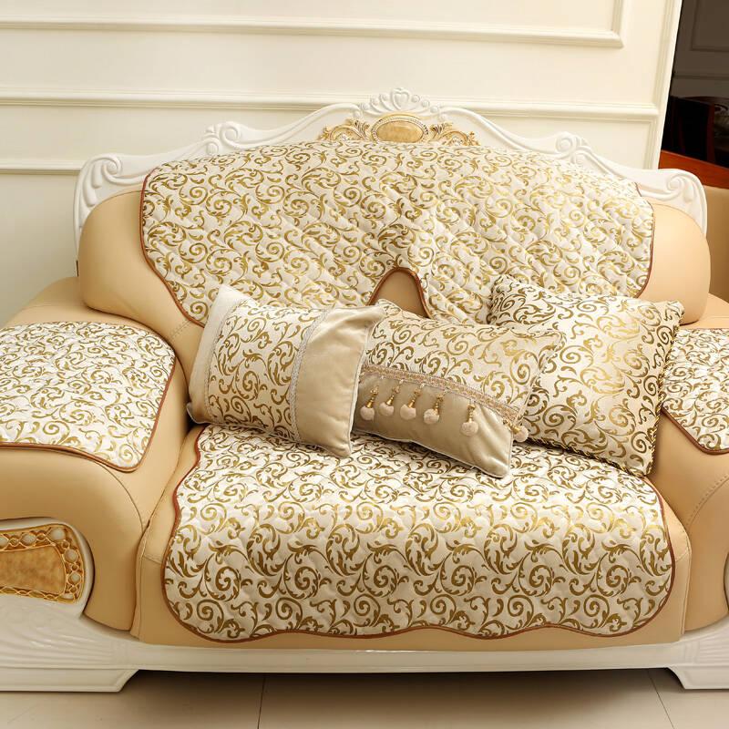 舒布艺坊 欧式奢华高档丝绒加厚沙发坐垫 绗缝沙发套图片