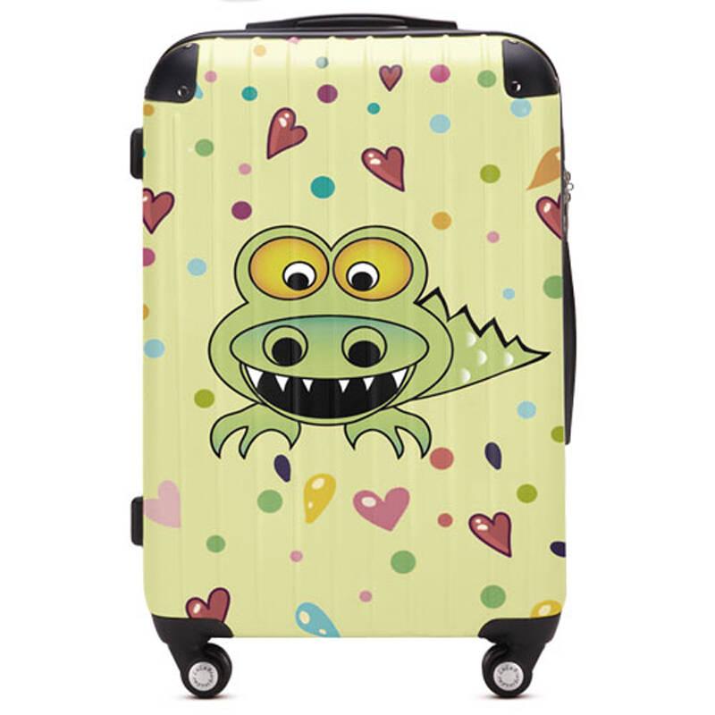 lulu熊 可爱卡通鳄鱼拉杆箱 万向飞机轮旅行箱 行李登机箱yqy085 lulu