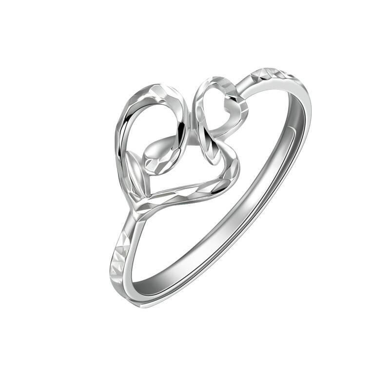 千禧之星 pt950铂金 素金戒指 指环 女款 可爱动物 抽象热带鱼 约2.