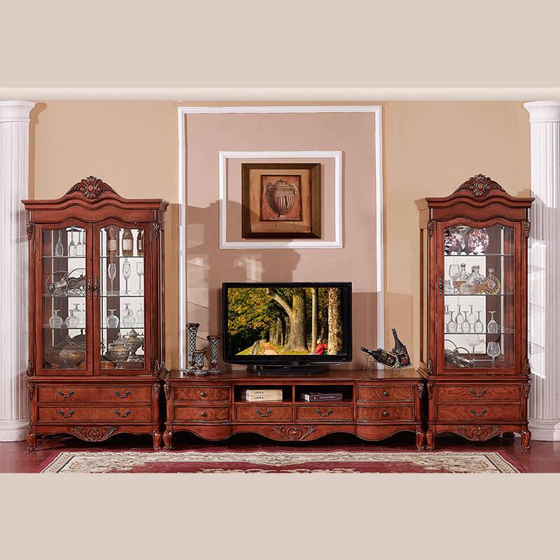 美乐乐家具 美式古典家具 电视柜组合 酒柜单门酒柜双门酒柜 客厅三图片