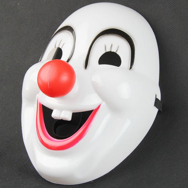 化装舞会 小丑面具 小丑红鼻子 电影小丑面具 塑料小丑面具