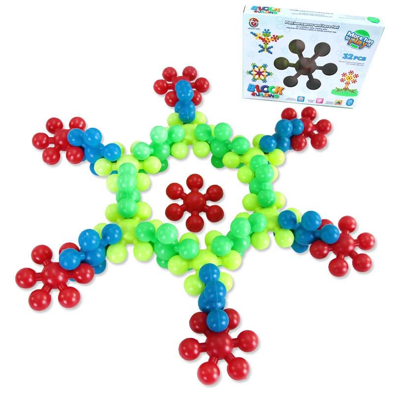 梅花片积木玩具 雪花片积木玩具 diy积木 动手能力创造力培养 早教