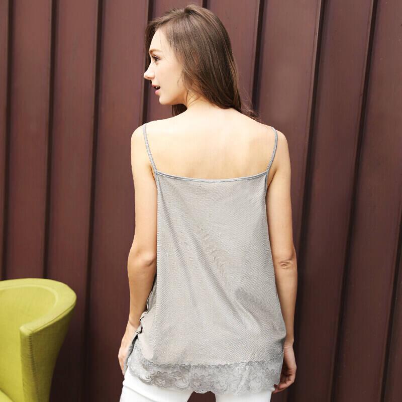 婧麒(JOYNCLEON)防辐射服吊带 孕妇装银纤维防辐射衣服 四季款 银灰色L码  jc8201