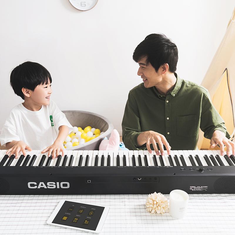 京东PLUS会员,CASIO 卡西欧 CDP-S100BK 88键重锤立式电钢琴