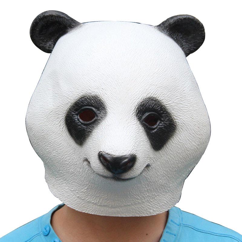 化装舞会 动物装饰 动物面具 阿宝功夫熊猫面具 环保乳胶熊猫头套从北