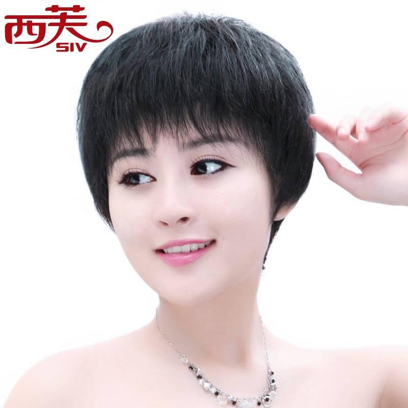 优雅女生斜刘海发型图片图片